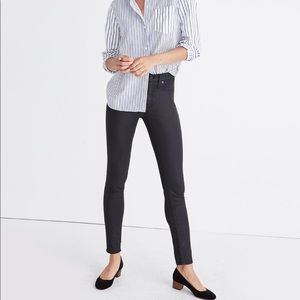 """Madewell 9"""" High-Rise Skinny Jeans Coated Edition"""